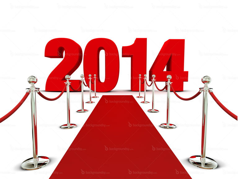New Year 2014 red carpet background