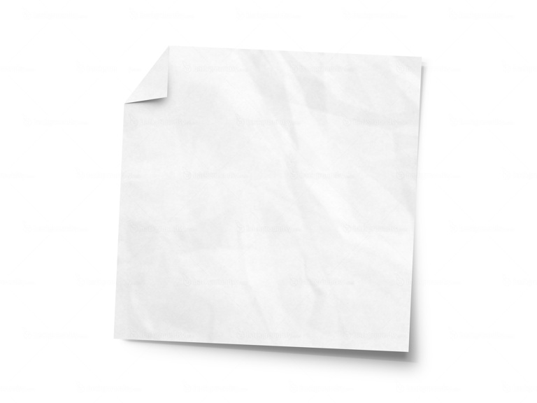 crumpled sticky note
