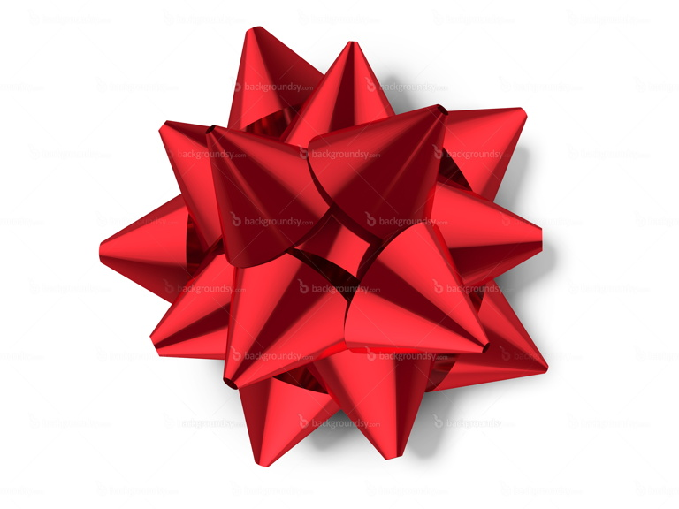 Red gift bow, celebration sign (PNG)