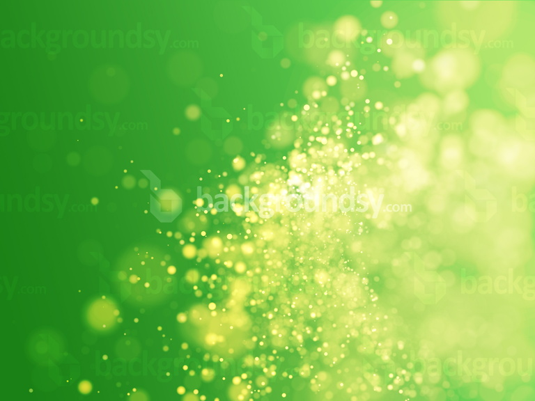 Green particles bokeh
