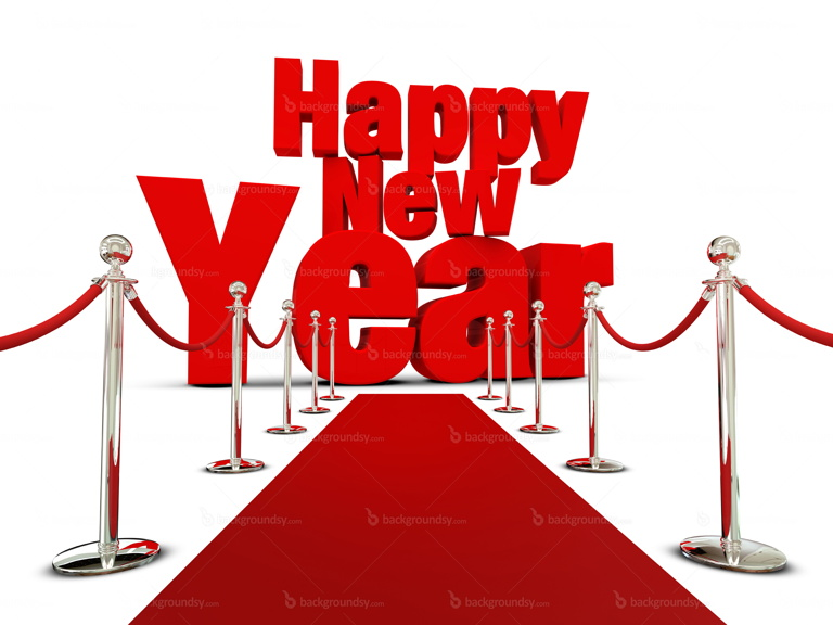 happy new year red carpet