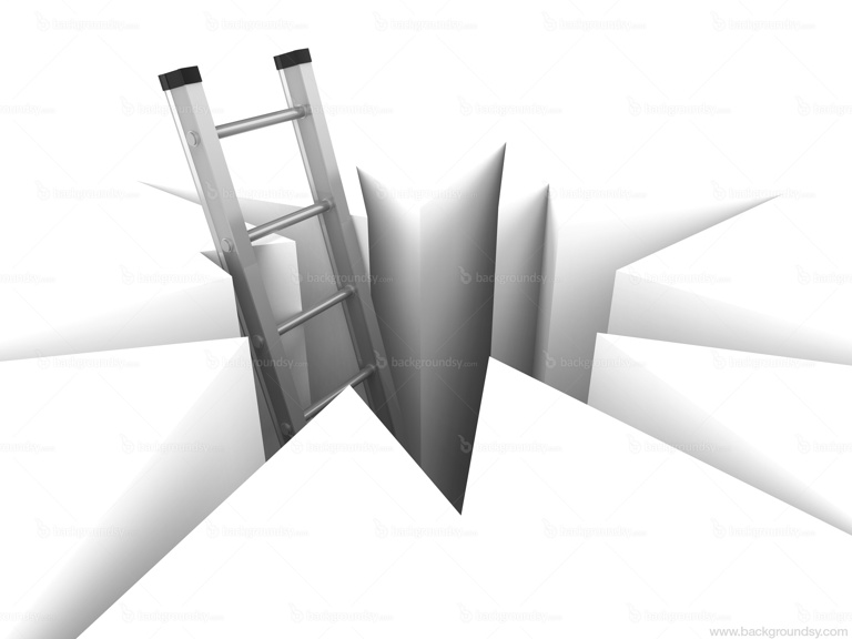 ladder and hole