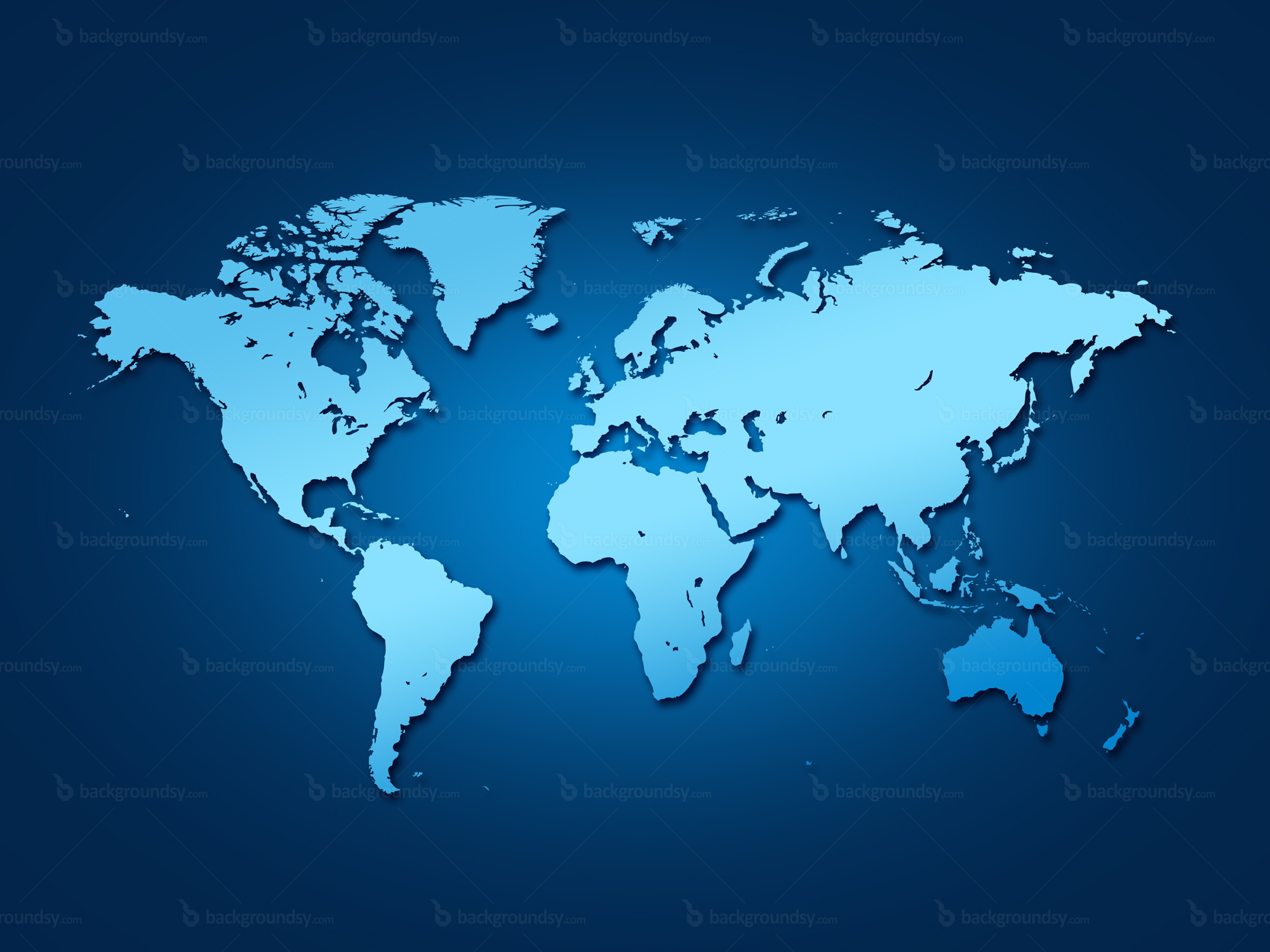 Blue World Map Backgroundsycom - World map images