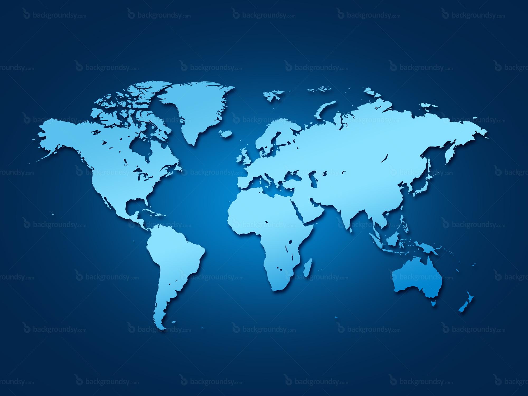 Blue world map | Backgroundsy.com
