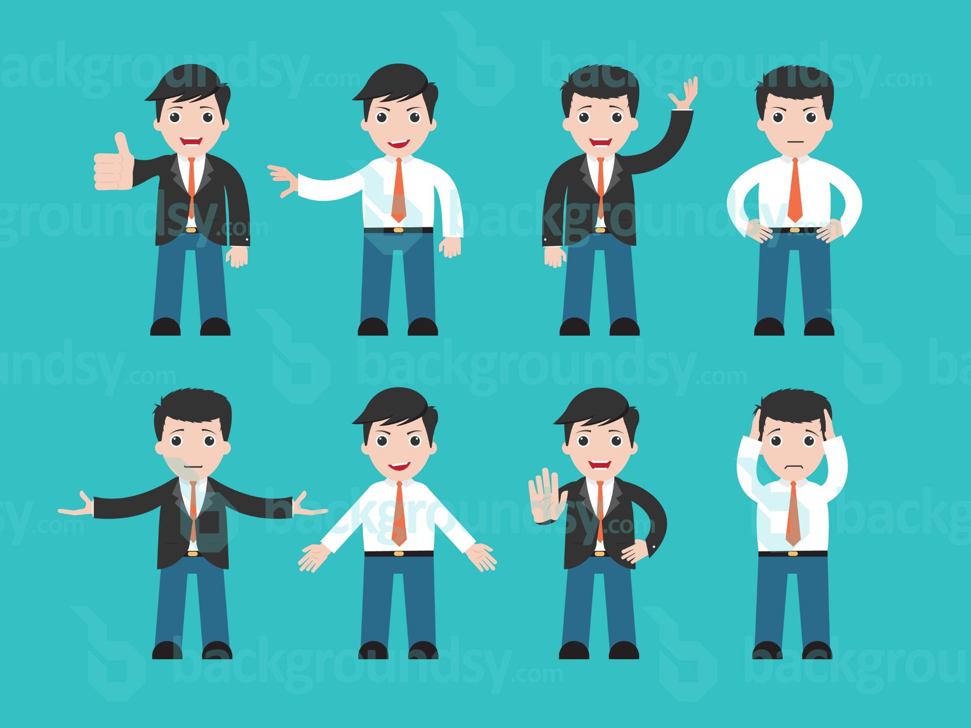 Vector Character Design Illustrator : Businessman character vector backgroundsy