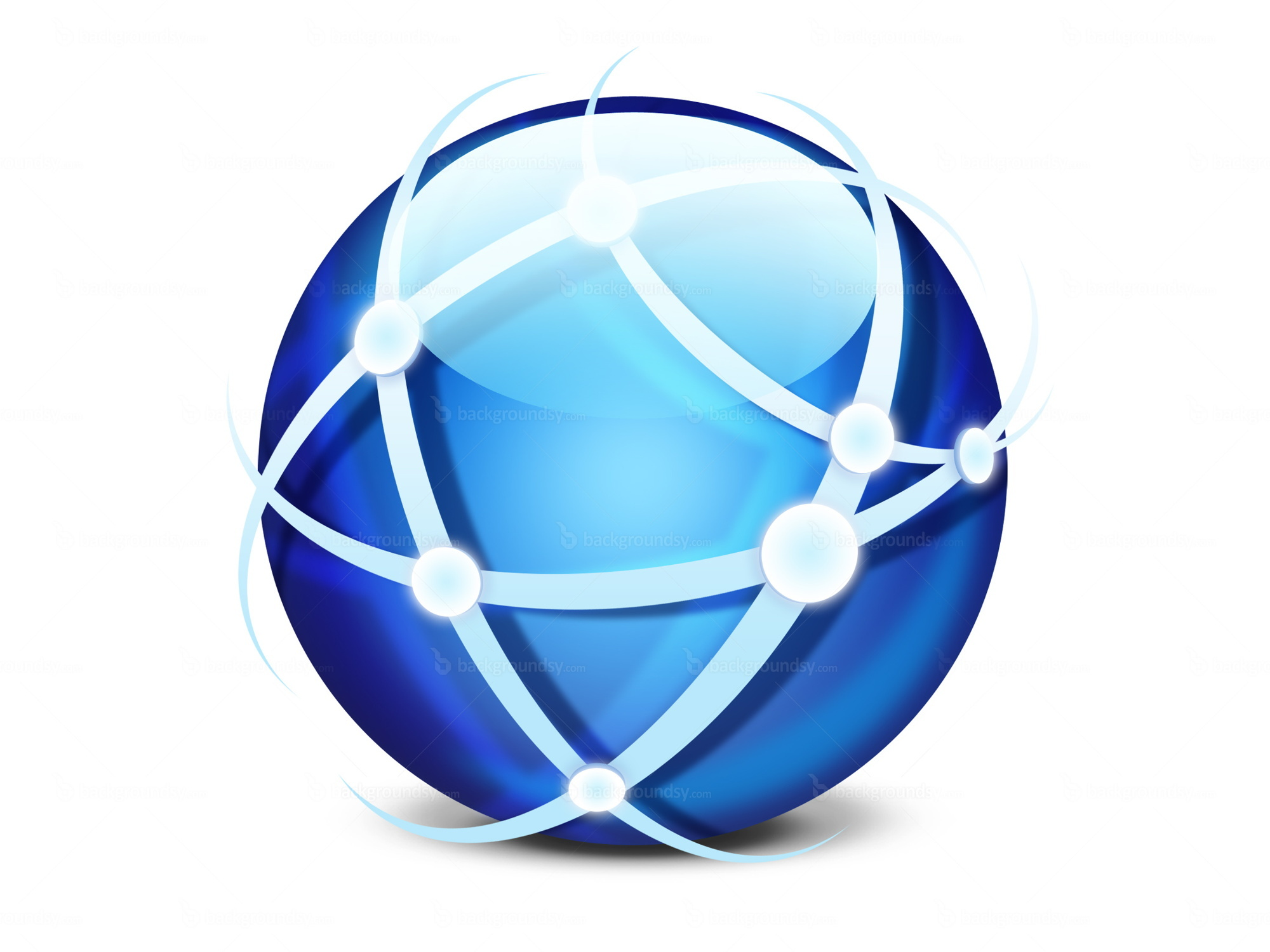 Global network icon PSD  Backgroundsy.com