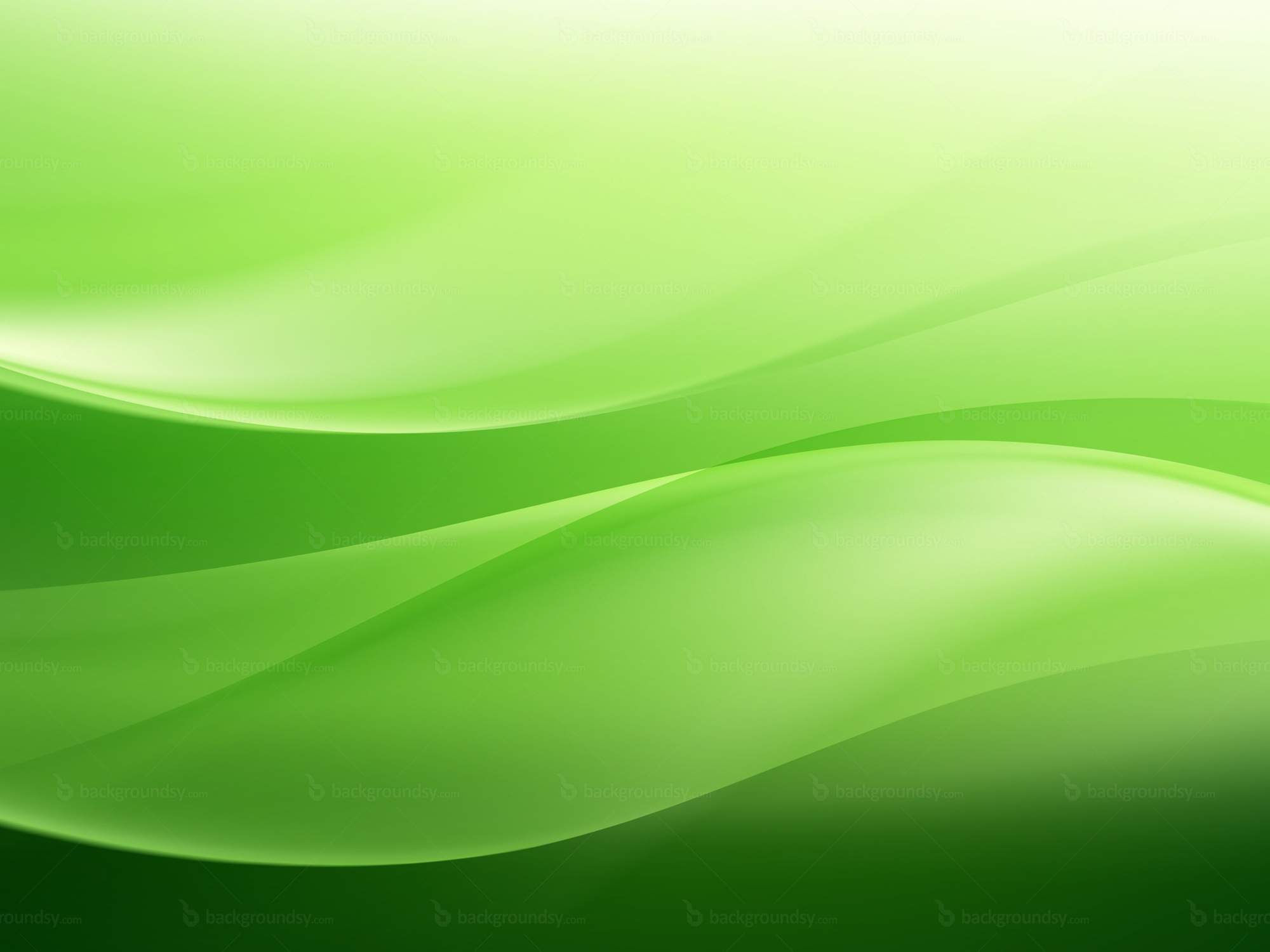 Green waves background for Green design