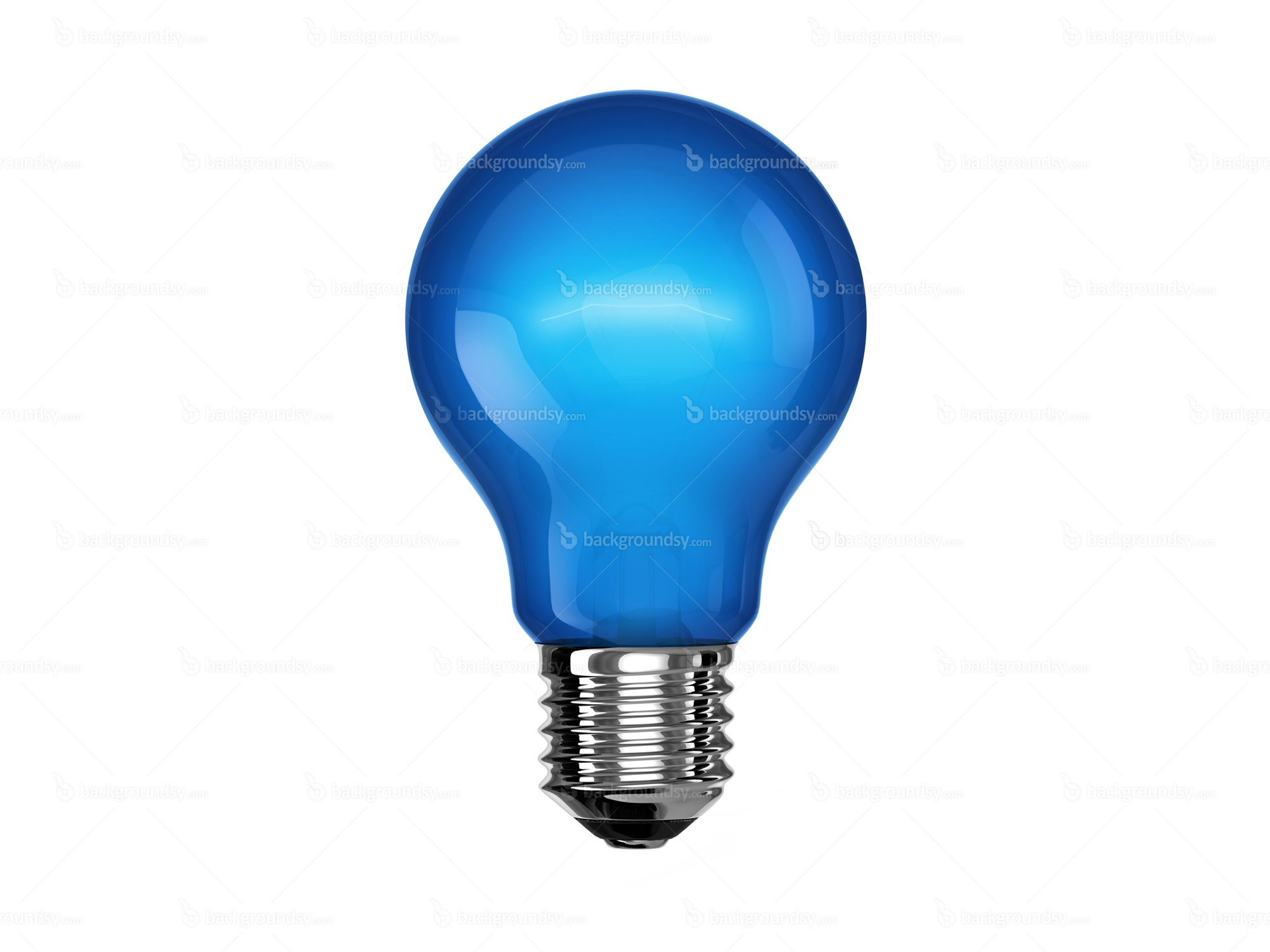 Blue light bulb A light bulb