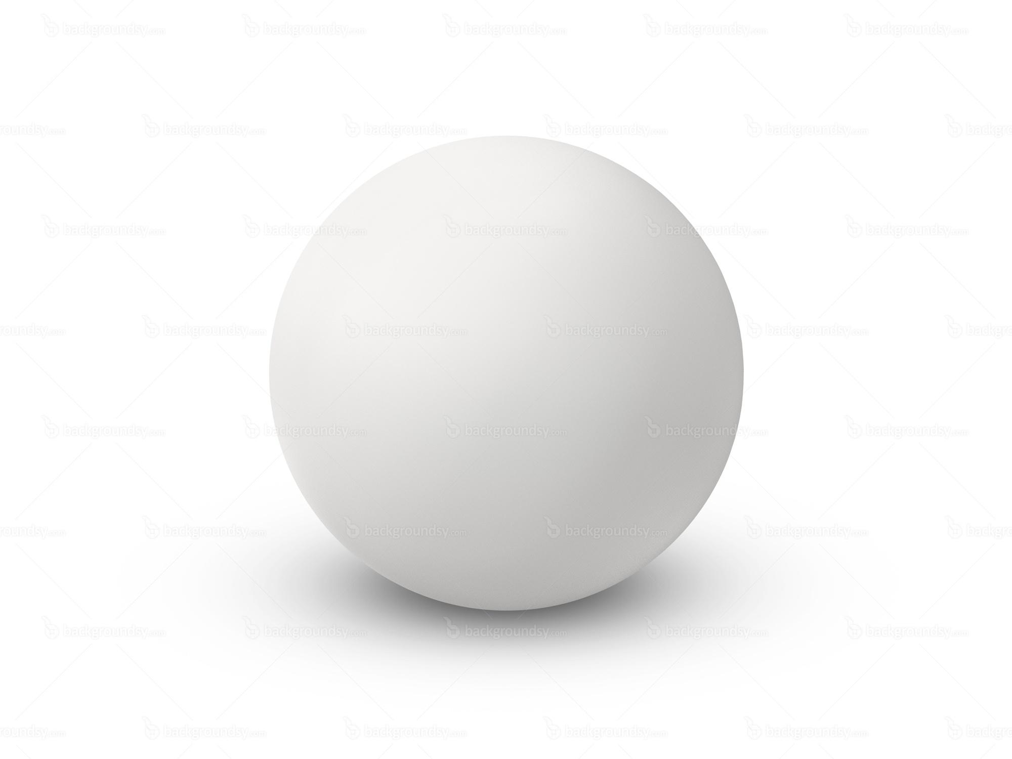 white ball: