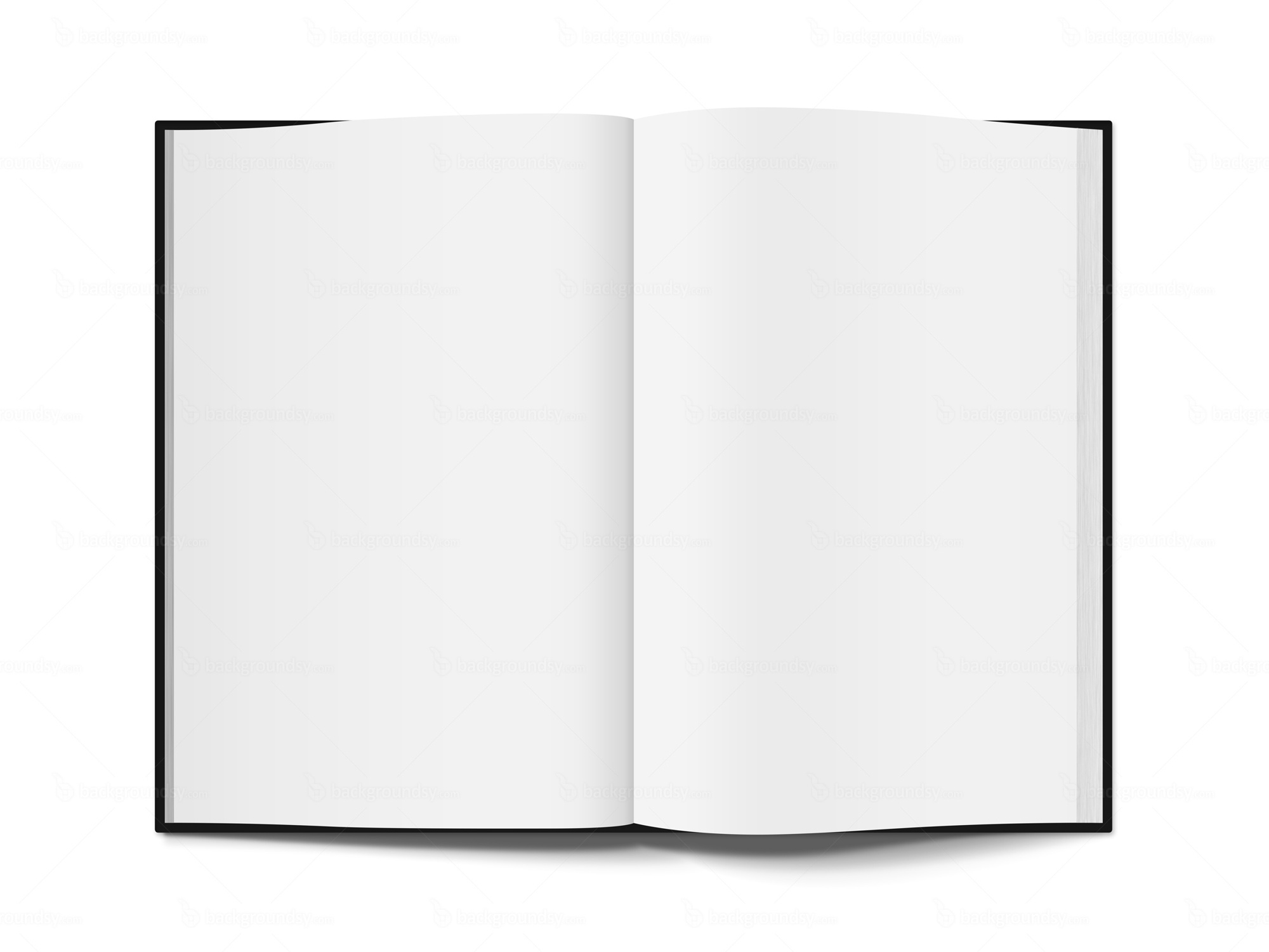 Open Book Template White PNG