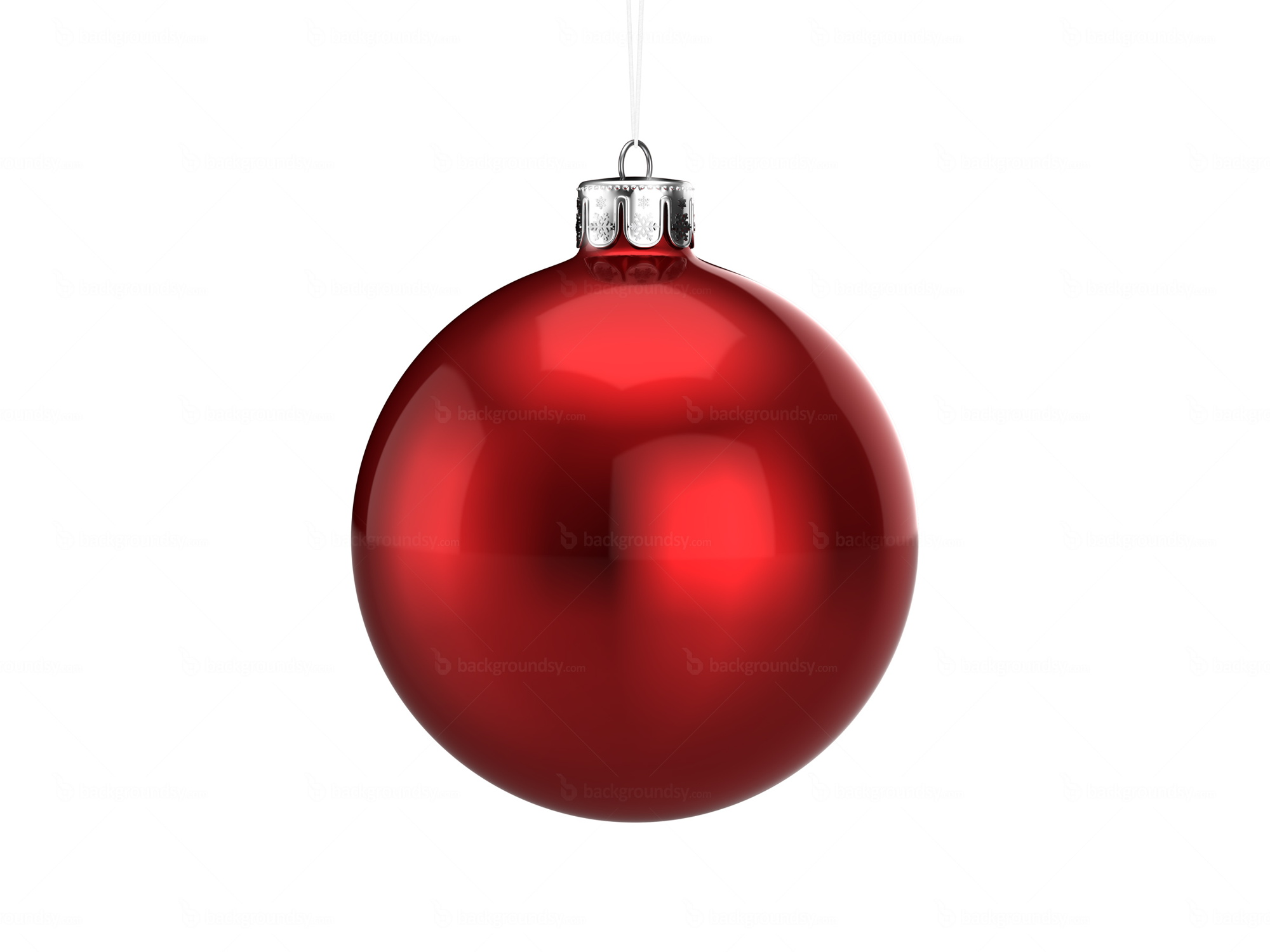 Red Christmas ball | Backgroundsy.com