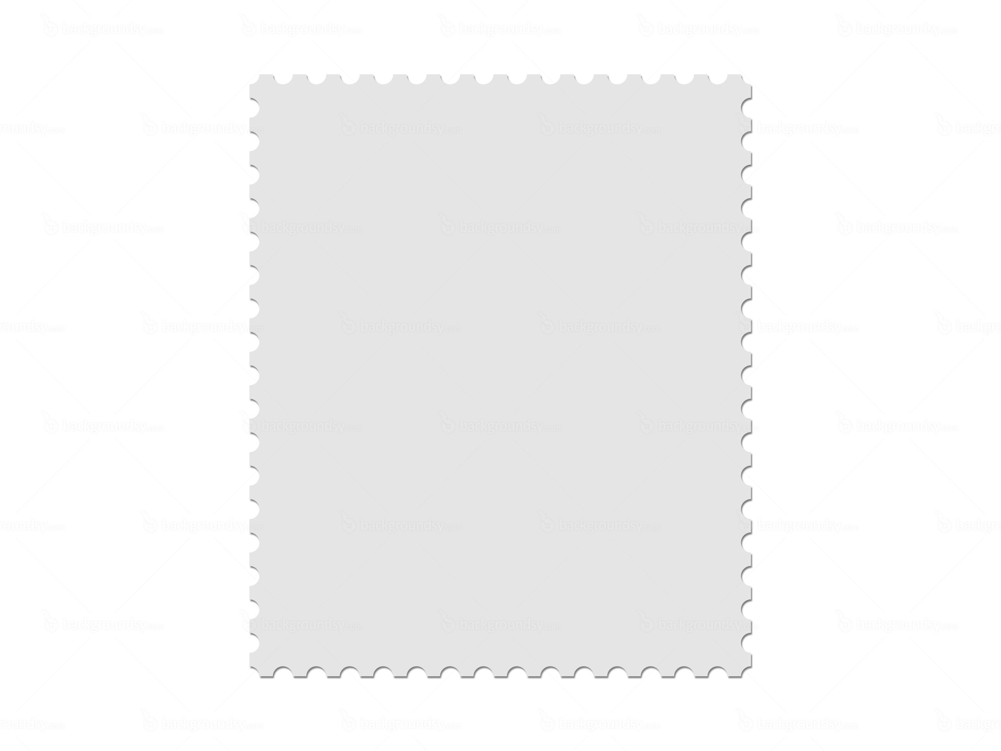 Blank Postage Stamp Template