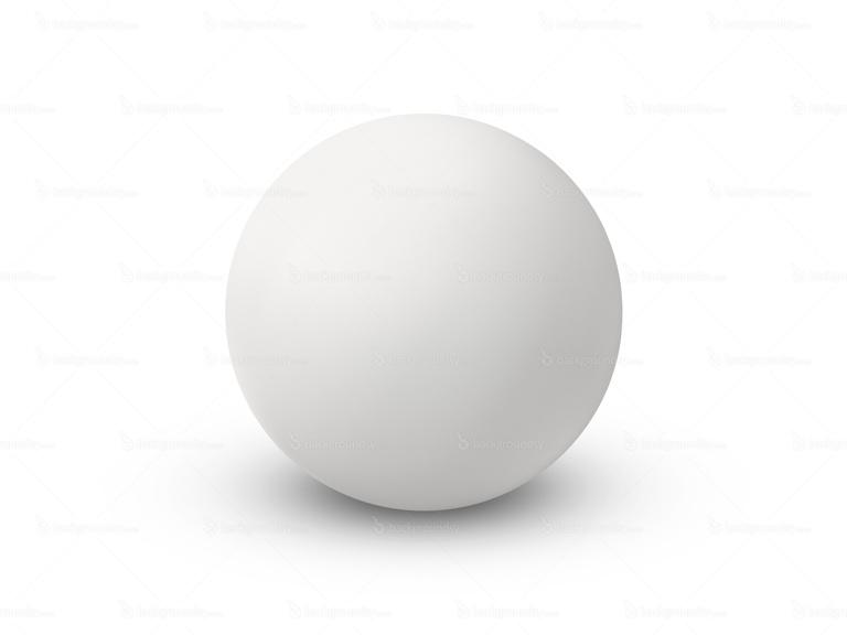 matte white sphere
