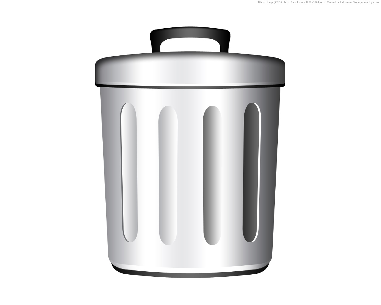 Trash can icon (PSD) | Backgroundsy.com