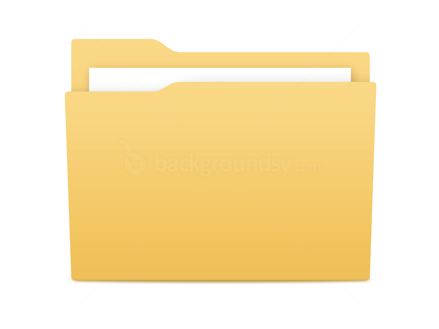 Privacy Policy >> Yellow folder icon (PSD) | Backgroundsy.com