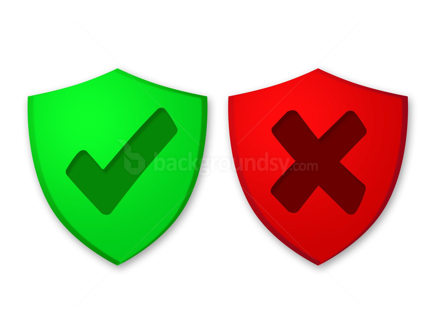 passed and failed symbols psd backgroundsycom