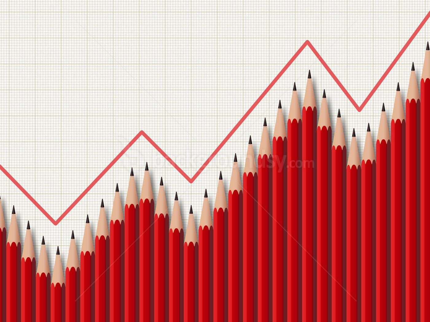 pencil business graph