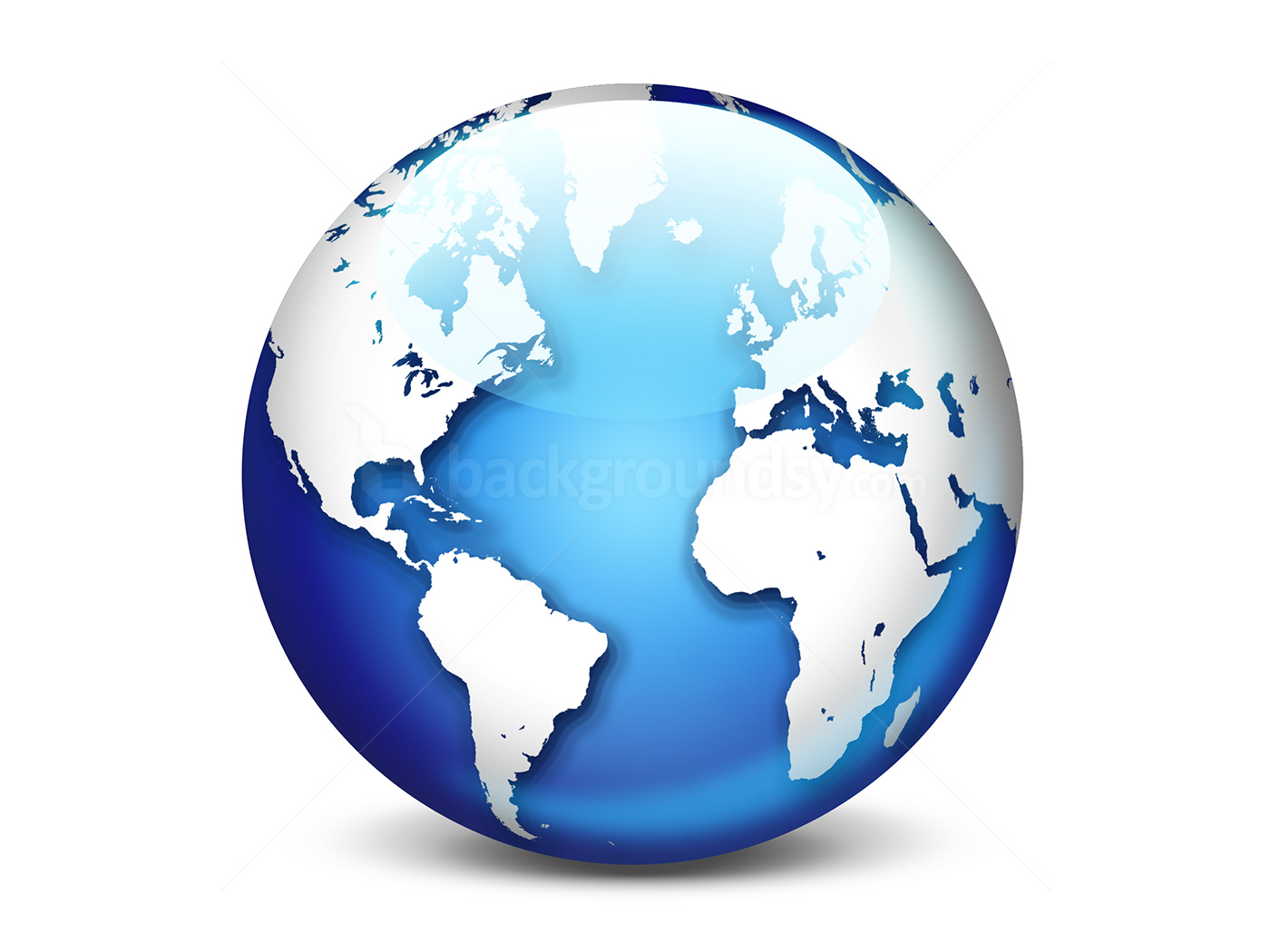 World globe icon (PSD) | Backgroundsy.com