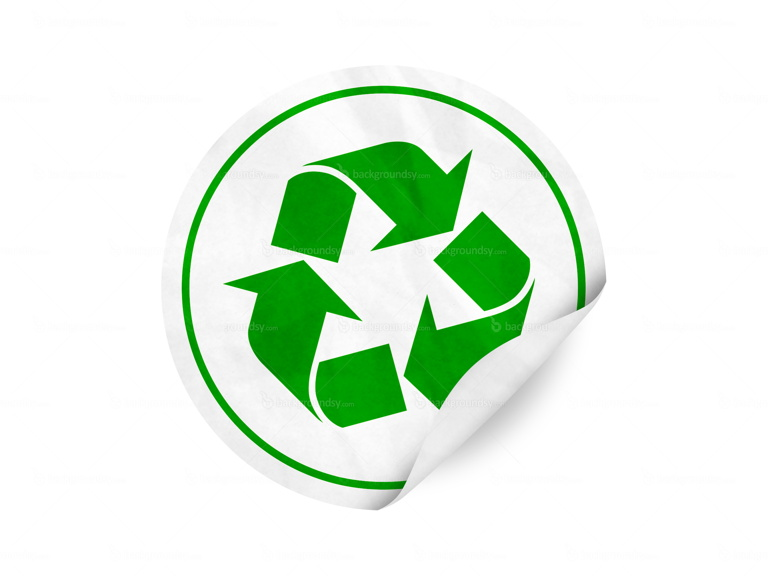 recycling symbol sticker