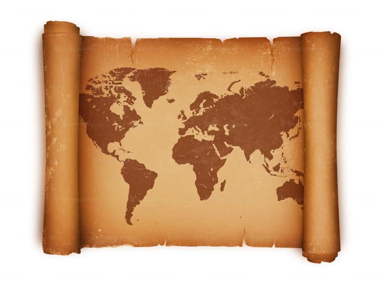 scroll world map