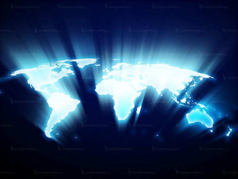 shining world map