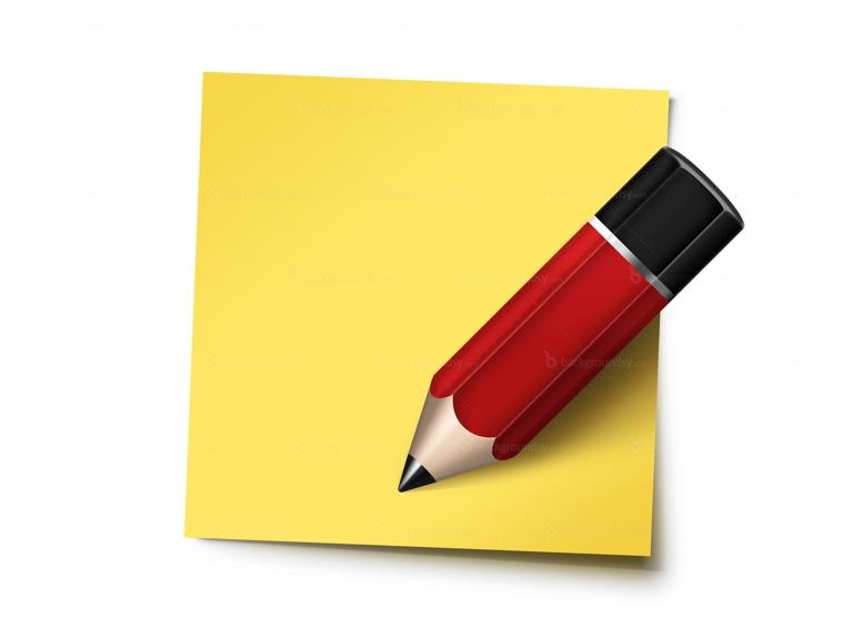 sticky note pencil