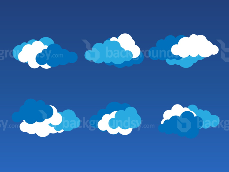 vector-clouds-set