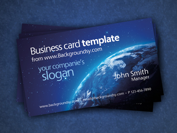 earth space business card template
